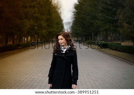 young beautiful happy girl in the park