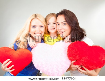 young beautiful happy smile people - stock photo