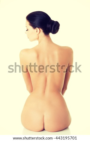 Young beautiful nude woman - stock photo