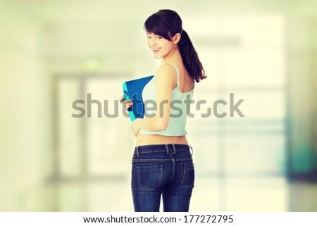 Young beautiful teen student girl  - stock photo