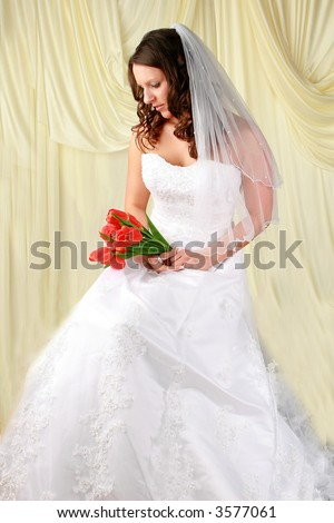 young beautiful wedding bride