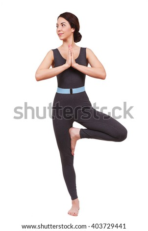 young beautiful woman doing yoga  - stock photo