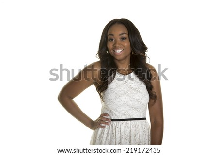 Young beautiful woman isolated on a white background