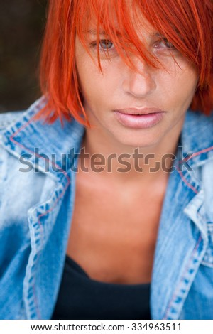 Young beautiful woman portrait  - stock photo