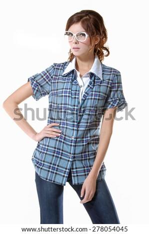 young beautiful woman posing  - stock photo