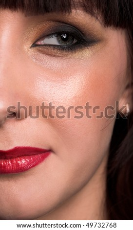young beauty girl close up photo