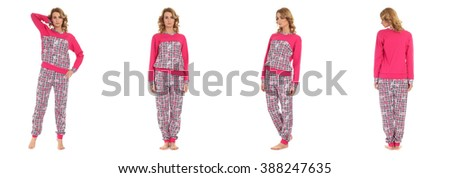 Young Beauty Girls In Pajama
