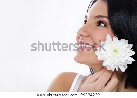 young beauty with healthy skin - stock photo
