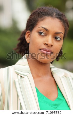 Young black businesswoman - stock photo
