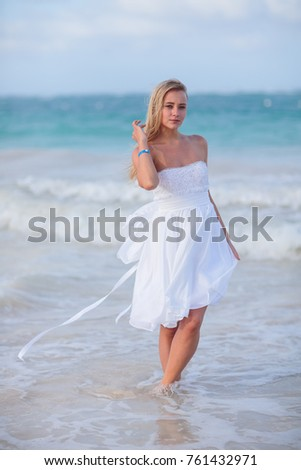 young blonde wedding Dominican Republic