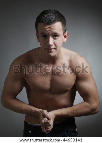 young bodybuilder - stock photo