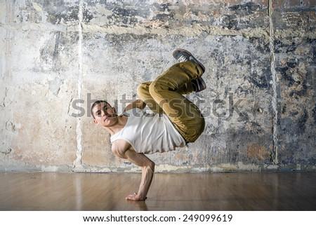 Young boy break dancer - stock photo