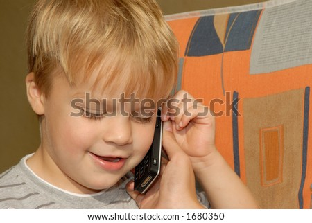Young boy communicating