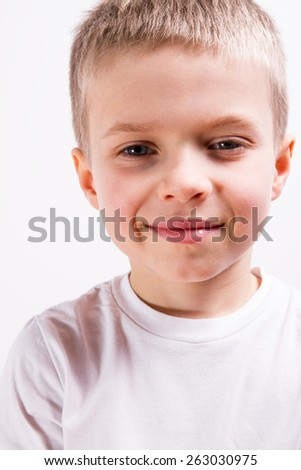 Young boy face  - stock photo