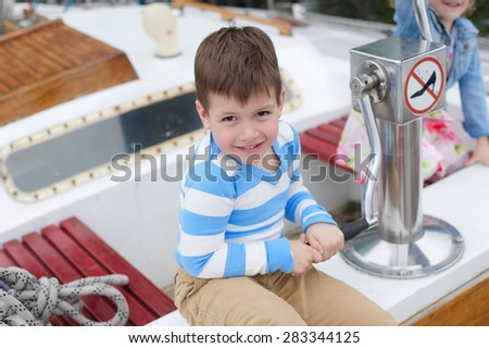 Young boy on the boat