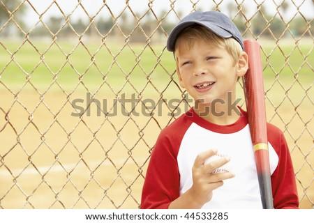 Young Boy Playing Baseball - stock photo