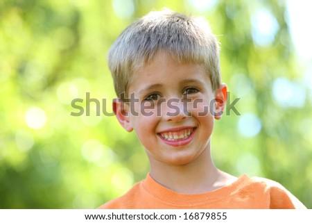 Young boy portrait - stock photo