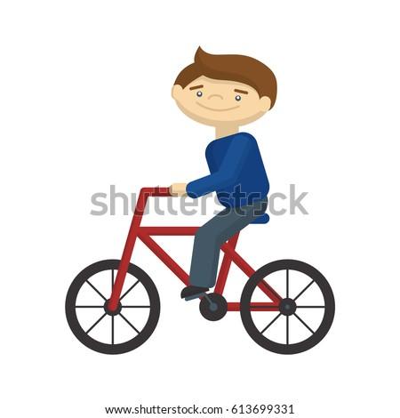 Ride Bike Cartoon