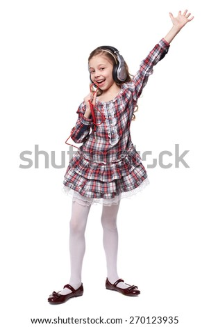 Young boy thumbs up on white background - stock photo