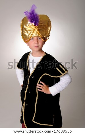 Young boy wearing a Sultan or Sheiku0027s halloween costume  sc 1 st  Shutterstock : sheik halloween costume  - Germanpascual.Com