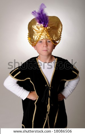 Young boy wearing a Sultan or Sheiku0027s halloween costume  sc 1 st  Shutterstock & Young Boy Wearing Sultan Sheiks Halloween Stock Photo (Royalty Free ...