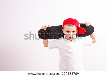 Young boy with euro paper money - stock photo