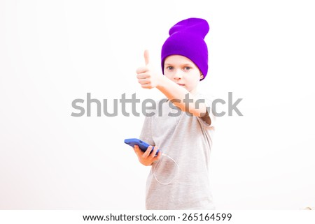 Young boy with toilet paper - stock photo