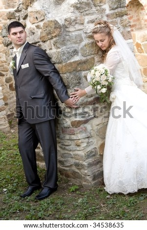Young Bride And Groom Together
