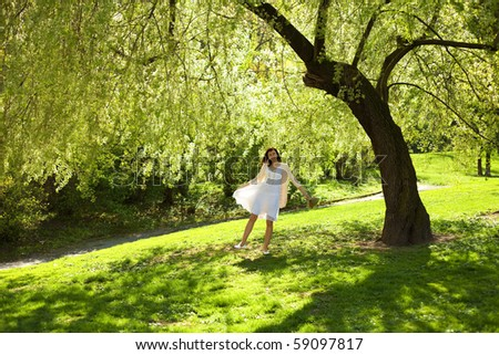 young bride stood under the greenwood tree