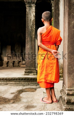 Young Buddhist monks - stock photo