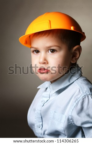 young builder - stock photo