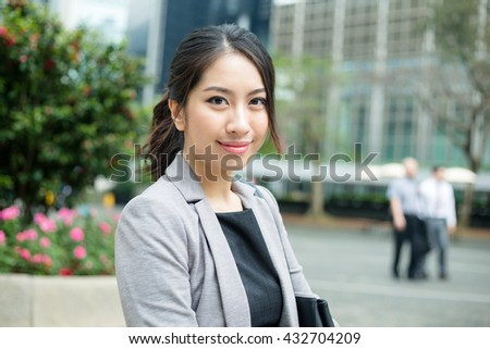 Young busines woman - stock photo