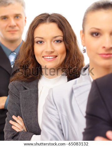 young business group - stock photo
