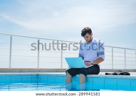 Young Man Dressed Bathrobe Sitting On Stock Photo 289940465 Shutterstock