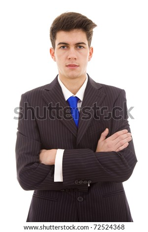 young business man isolated on white background