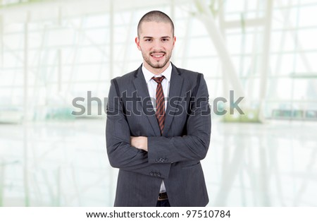 young business man portrait at the office