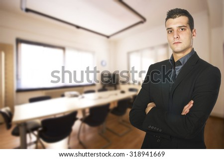 Young Business man ready to work in your office  - stock photo