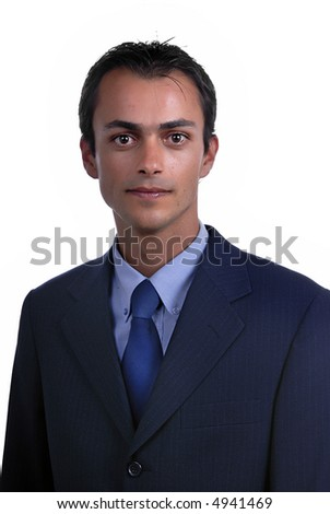 young business men portrait isolated on white.
