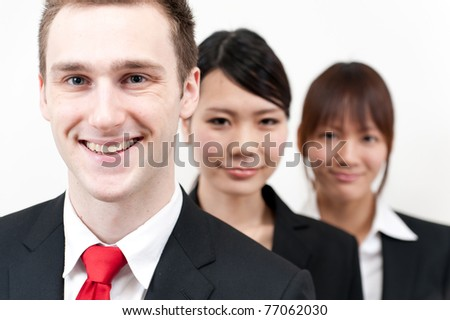 young business people looking - stock photo