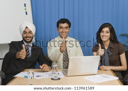 Young business people on meeting in an office