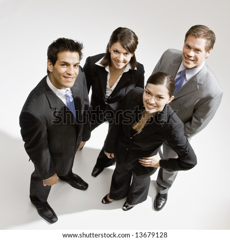 Young business people posing - stock photo