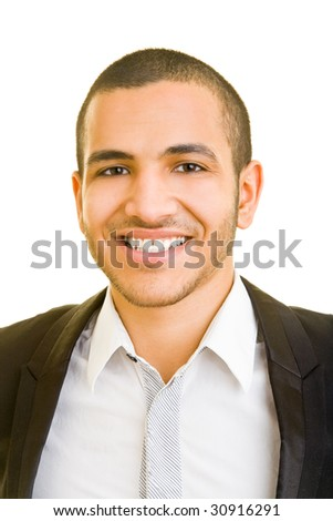 Young business smiling at the camera - stock photo