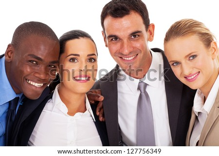 young business team closeup portrait - stock photo
