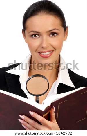 Young business woman. - stock photo