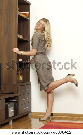 young business woman at home - stock photo