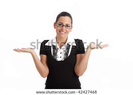 "Young business woman - ""Confusion"" - stock photo"