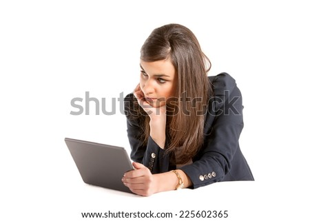 Young business woman focuse working on laptop.
