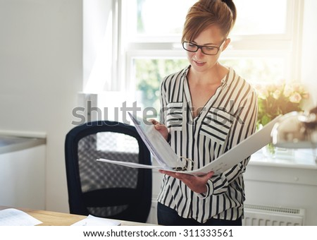 Amazing Young Female Entrepreneur Working Home Office Stock Photo Largest Home Design Picture Inspirations Pitcheantrous