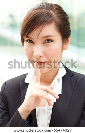 Young businesslady with a secret