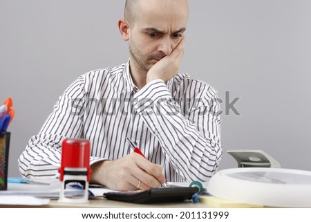 Young businessman at his desk